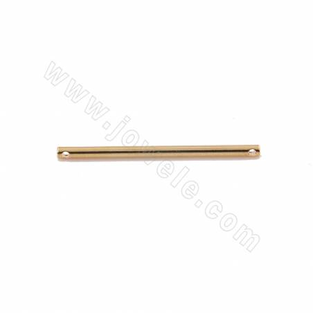 Brass Links/Connectors Earring Components, Real Gold Plated, Tube, Size 35x2mm, Hole 1.2mm, 50pcs/pack