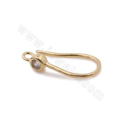 CZ Brass Hook Earring...