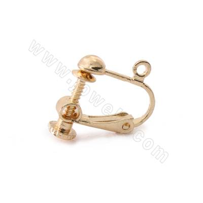 Brass Clip-on Earring...