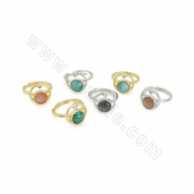 Natural Faceted Gemstone CZ...