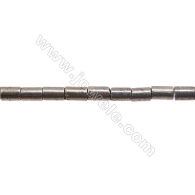 """Natural Pyrite Beads Strand  Column   Size 5x8mm  Hole 0.8mm  about 51 beads/strand 15~16"""""""