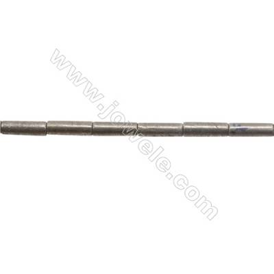 """Natural Pyrite Beads Strand  Column   Size 4x13mm  Hole 0.8mm  about 30 beads/strand 15~16"""""""