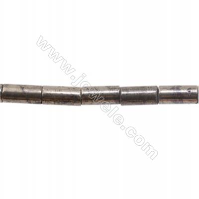 """Natural Pyrite Beads Strand  Column   Size 8x16mm  Hole 1mm  about 25 beads/strand 15~16"""""""