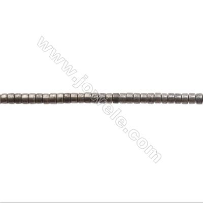 """Natural Pyrite Beads Strand  Column   Size 2x3mm  Hole 0.5mm  about 183 beads/strand 15~16"""""""