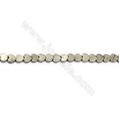 """Natural Pyrite Beads Strand  Heart   Size 6x6mm  Hole 0.8mm  about 86 beads/strand 15~16"""""""
