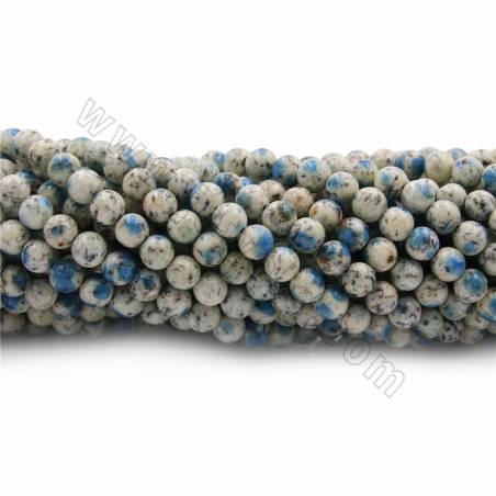 "Natural K2 Jasper Beads Strands, Round, Diameter 6~16mm, Hole 0.7~1mm, 15~16""/strand"
