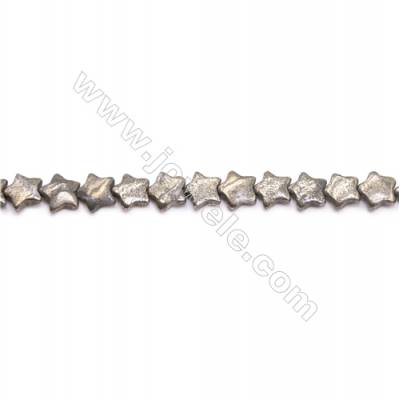 Natural Pyrite Beads Strand  Star   Size 10x10mm  Hole 0.8mm  about 44 beads/strand 15~16""