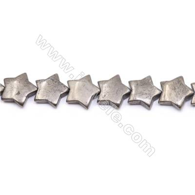 """Natural Pyrite Beads Strand Flat Star   Size 20x20mm  Hole 1.5mm  about 23 beads/strand 15~16"""""""