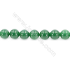 """Natural Green Agate Beads Strand, Round, Diameter 10mm, Hole 1mm, about 39 beads/strand, 15~16"""""""