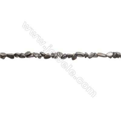 "Natural Pyrite Beads Strand  Irregular   Size 3x4mm  Hole 0.8mm  about 125 beads/strand 15~16"""
