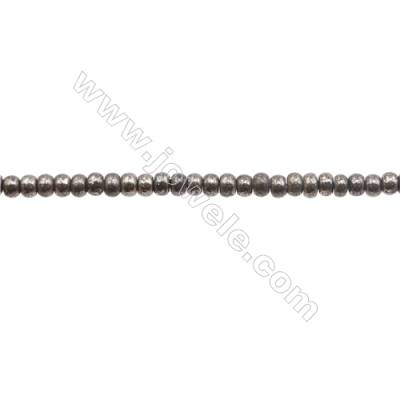 """Natural Pyrite Beads Strand  Abacus   Size 3x4mm  Hole 0.6mm  about 135 beads/strand 15~16"""""""