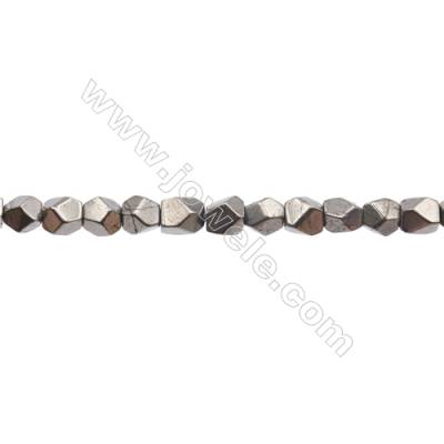 Natural Pyrite Beads Strand  Irregular   Size 7x7mm  Hole 1mm  about 53 beads/strand 15~16""