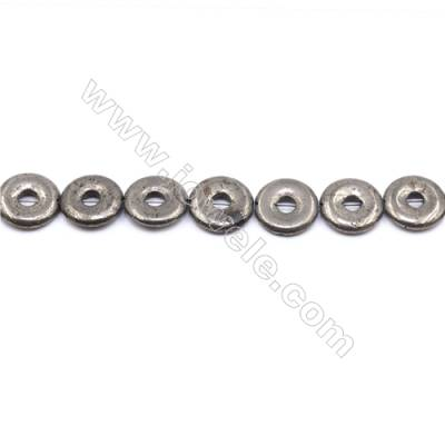 """Natural Pyrite Beads Strand  Donut   Diameter 16mm  Hole 0.8mm  about 25 beads/strand 15~16"""""""