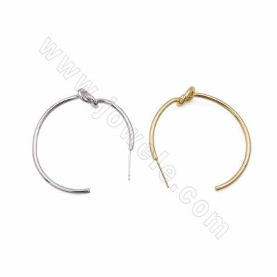 Brass Hoop Earrings, 925...