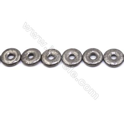 """Natural Pyrite Beads Strand  Donut   Diameter 20mm  Hole 1mm  about 20 beads/strand 15~16"""""""