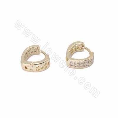 CZ Brass Leverback Earring...