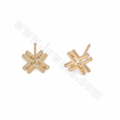 CZ Brass Stud Earring...
