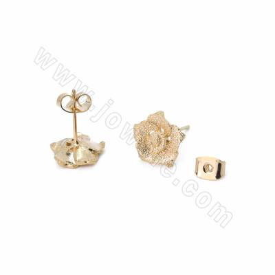 Brass Stud Earrings,...