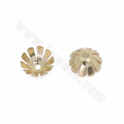 Brass Bead Caps, Flower,...