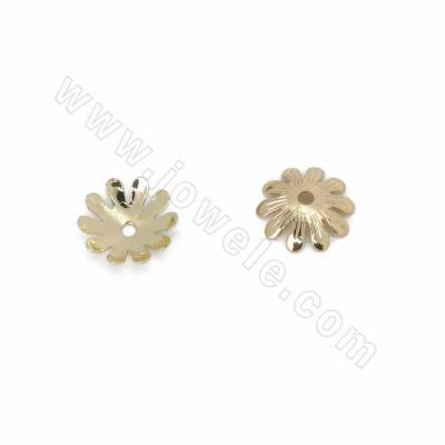 Brass Bead Caps, Flower,...