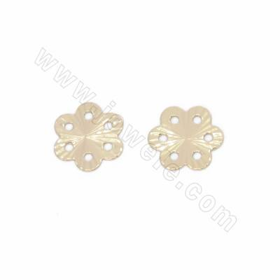 Brass Spacer Beads, Flower...