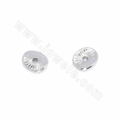 Alloy Spacer Beads, White...