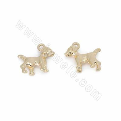 Brass Pendants, Puppy, Gold...