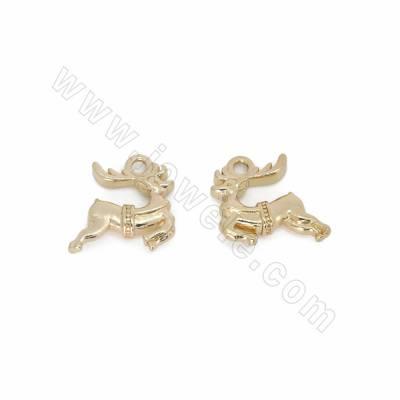 Brass Pendants, Elk, Gold...