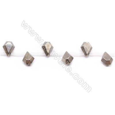 """Natural Pyrite Beads Strand  Faceted Teardrop   Size 12x16mm  Hole 1mm  about 21 beads/strand 15~16"""""""