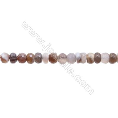Natural  Faceted Botswana Agate Beads Strand  Faceted Abacus  Size 4x6mm   hole 1mm   about 82 beads/strand 15~16''