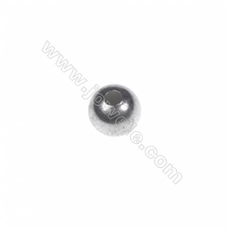 925 Sterling silver beads, 5mm, x 100pcs, hole 1.5mm