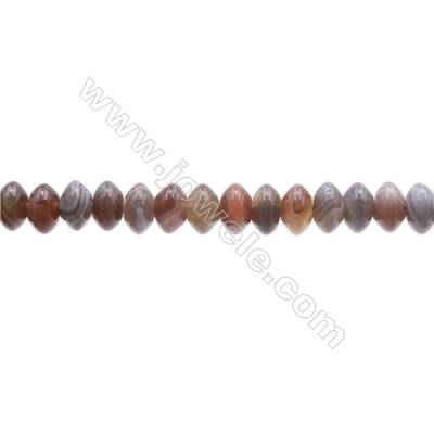 Natural Botswana Agate Beads Strand  Abacus  Size 5x8mm   hole 1mm   about 79 beads/strand 15~16''