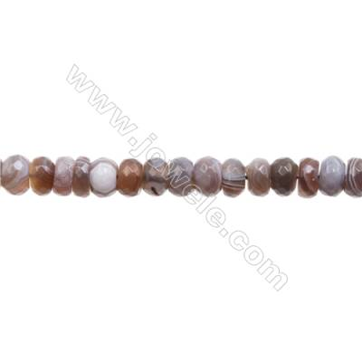 Natural Botswana Agate Beads Strand  Faceted Abacus  Size 5x8mm   hole 1mm   about 73 beads/strand 15~16''