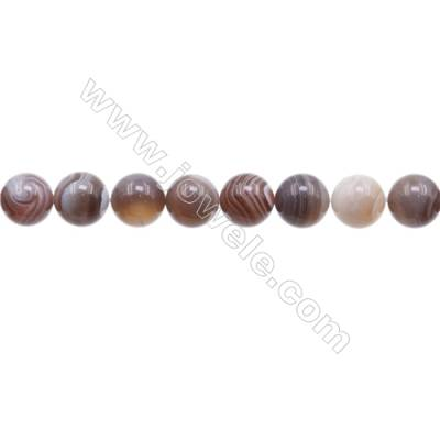 Natural Botswana Agate Beads Strand  Round  Diameter 10mm   hole 1mm   about 41beads/strand 15~16''