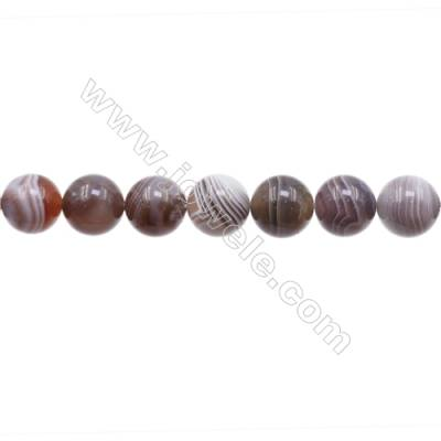 Natural Botswana Agate Beads Strand  Round  Diameter 12mm  hole 1.5mm  about 34 beads/strand 15~16''