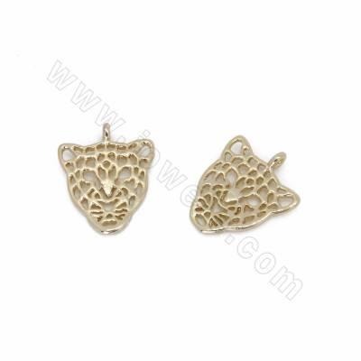 Brass Pendants, Leopard,...