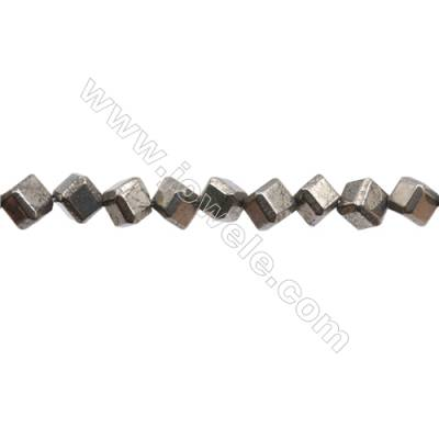 Natural Pyrite Beads Strand Faceted Rhombus   Size 6x6mm  Hole 1mm  about 52 beads/strand 15~16""