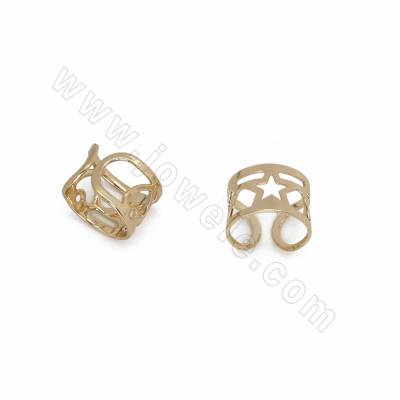 Brass Clip-on Earrings,...
