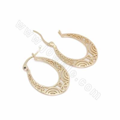 Brass Leverback Earring...