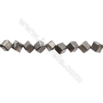 Natural Pyrite Beads Strand  Faceted Rhombus   Size 8x8mm  Hole 1mm  about 37 beads/strand 15~16""
