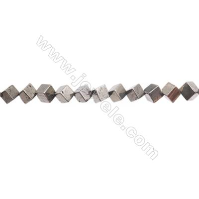 Natural Pyrite Beads Strand  Rhombus   Size 6x6mm  Hole 0.8mm  about 48 beads/strand 15~16""