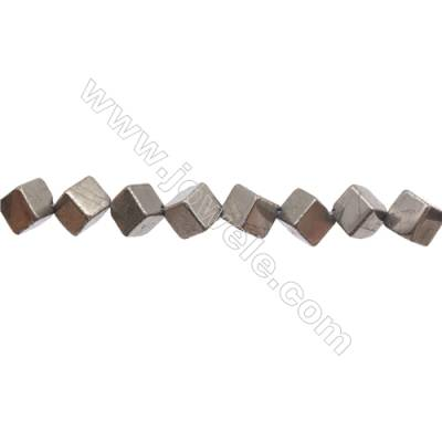 Natural Pyrite Beads Strand  Rhombus   Size 8x8mm  Hole 1mm  about 35 beads/strand 15~16""