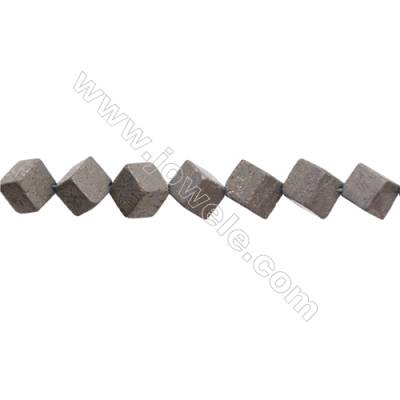 Natural Pyrite Beads Strand  Rhombus   Size 10x10mm  Hole 1mm  about 28 beads/strand 15~16""