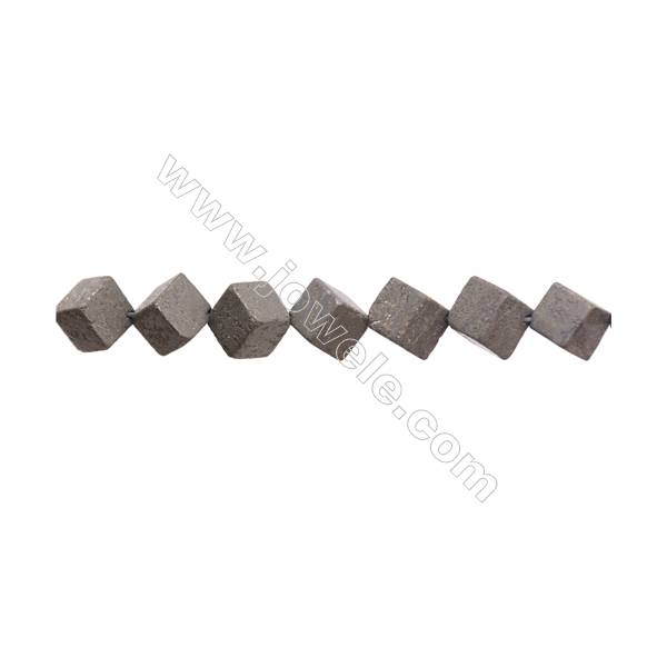"""Natural Pyrite Beads Strand  Rhombus   Size 10x10mm  Hole 1mm  about 28 beads/strand 15~16"""""""
