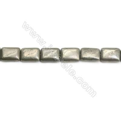 Natural Pyrite Beads Strand Flat Square   Size 12x16mm  Hole 1mm  about 25 beads/strand 15~16""