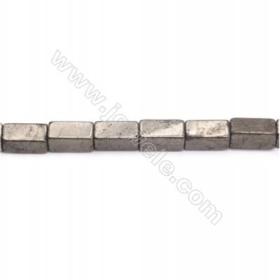 Natural Pyrite Beads Strand  Cuboid   Size 8x16mm  Hole 1mm  about 24 beads/strand 15~16""
