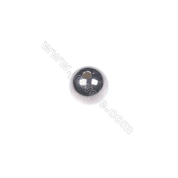 925 Sterling Silver Beads, 8mm, x 20pcs, hole 1.5mm