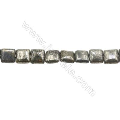 Natural Pyrite Beads Strand Flat Square   Size 10x10mm  Hole 1mm  about 39 beads/strand 15~16""