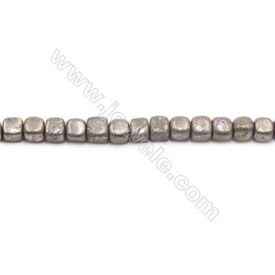 Natural Pyrite Beads Strand  Faceted Cube   Size 8x8mm  Hole 1mm  about 51 beads/strand 15~16""