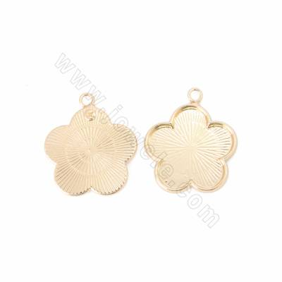 Brass Pendants, Flower,...